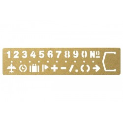 BRASS bookmark NUMBERS