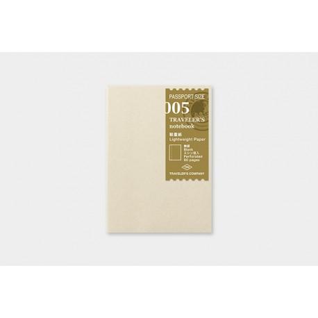 Wkład do Traveler's Notebook 005 (Passport size): Notes z cienkim papierem