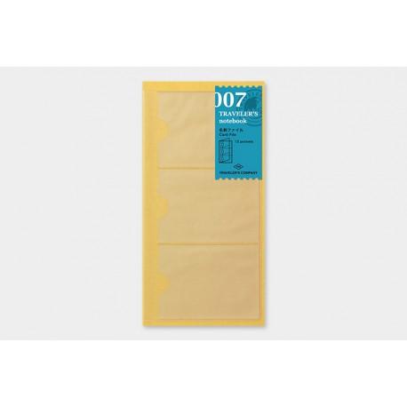 Traveler's Notebook 007 Refill: Card File