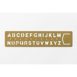 BRASS bookmark ALPHABET