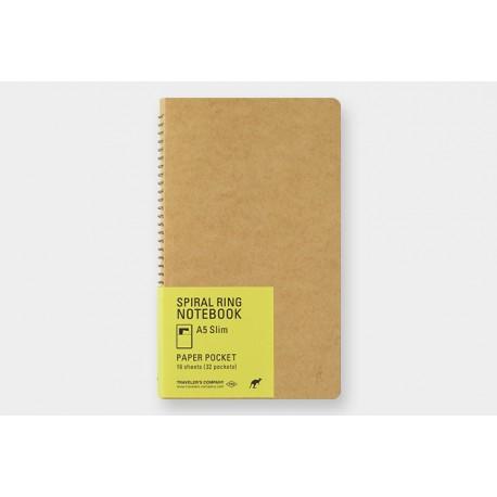 Kołonotatnik TRC Spiral Ring Notebook Paper Pocket A5 Slim